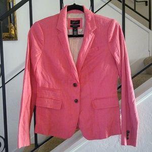 J. CREW Pink Schoolboy Blazer/Jacket Size 2.